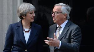 Jean-Claude Juncker was optimistic about securing a Brexit deal (John Stillwell/PA)
