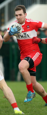 Hit for six: Ryan Bell bagged six points for defeated Derry