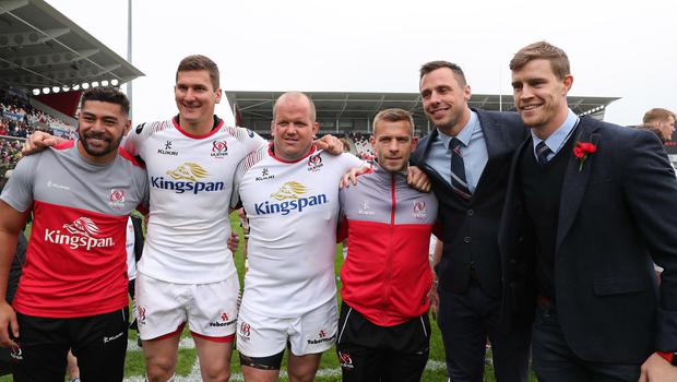 Charles Piutau, Robbie Diack, Callum Black, Paul Marshall, Tommy Bowe and Andrew Trimble ahead of their Ulster exits