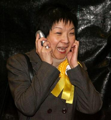 Anna after becoming the first person from an ethnic minority to be elected to Northern Ireland's Assembly in 2007