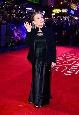 File photo dated 16/12/2015 of Carrie Fisher Carrie Fisher, who has died at age 60, her daughter's publicist said. PRESS ASSOCIATION Photo. Picture date: Tuesday December 27, 2016. See PA story DEATH Fisher. Photo credit should read: Ian West/PA Wire