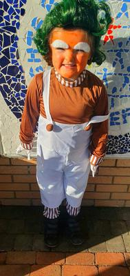 Phoebe Mullen aged 5 from Ballywalter dressed up as Oompa Loompa from Charlie and the Chocolate Factory