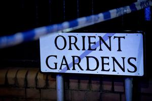 Police at the scene of a body find in the Orient Gardens area of north Belfast on on April 18th 2018 (Photo by Kevin Scott / Belfast Telegraph)