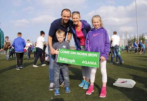 Picture - Kevin Scott / Presseye  Belfast , UK - May 27, Pictured is Northern Irelands Graeme Beggs and family in action during the last home game before heading to the Euros on May 27 2016 in Belfast , Northern Ireland ( Photo by Kevin Scott / Presseye)