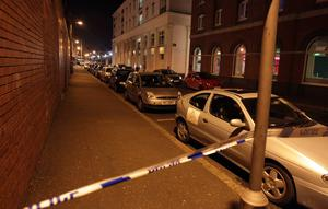 Dissident republicans have claimed responsibility for a small explosion in Belfast city centre's Cathedral Quarter area on Friday night. Pic Matt Mackey/Presseye