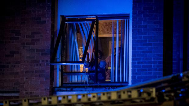 Firefighters deal with a blaze in an apartment block on Divis Street, west Belfast on February 1st 2020 (Photo by Kevin Scott for Belfast Telegraph)
