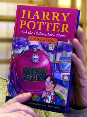 A hardback first edition of Harry Potter and the Philosopher's Stone by JK Rowling