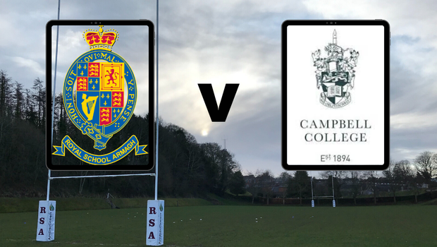 Royal School Armagh host Campbell College in the tie of the round