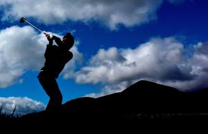 NEWCASTLE, NORTHERN IRELAND - MAY 29:  Gary Stal of France on the 8th tee during the second Round of the Dubai Duty Free Irish Open hosted by the Rory Foundation at Royal County Down Golf Club on May 29, 2015 in Newcastle, Northern Ireland.  (Photo by Ross Kinnaird/Getty Images)