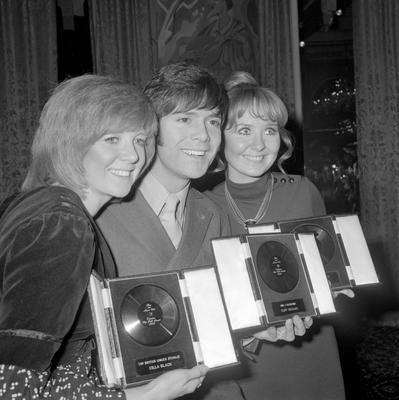 Cilla Black, voted the Top British Singer (female); Cliff Richard, voted Mr. Valentine and Best Dressed Star (male) - he was also runner up to Tom Jones in the Top British Singer (male section); and Lulu, voted Top Female Singer (World), Miss Valentine and the Best Dressed Star (female), during the  Disc and Music Echo Fourth Annual Readers' Poll Awards - Cafe Royal, London in 1970.