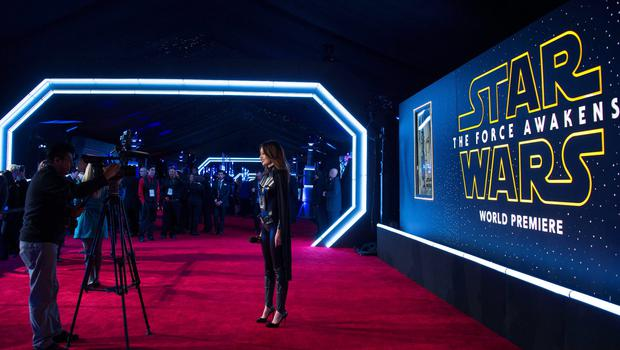 """General view of the set up at the World Premiere of """"Star Wars: The Force Awakens"""", in Hollywood, California, on December 14, 2015.AFP PHOTO /VALERIE MACONVALERIE MACON/AFP/Getty Images"""