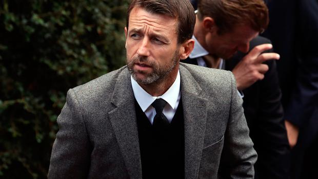 Neil McCann attends the funeral of former Rangers footballer Fernando Ricksen at Wellington Church, Glasgow. PA Photo. Picture date: Wednesday September 25, 2019. The former Holland international died aged 43 a week ago, six years after being diagnosed with motor neurone disease. Ricksen played more than 250 times for the Light Blues after joining from AZ Alkmaar in 2000, winning two league titles during his time in Glasgow. See PA story SOCCER Ricksen. Photo credit should read: Andrew Milligan/PA Wire.