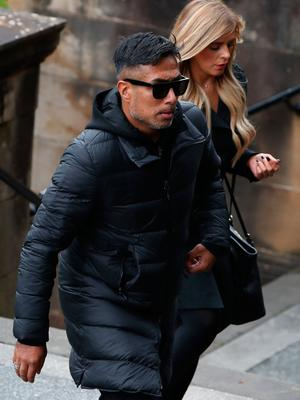 Bobby Petta attends the funeral of former Rangers footballer Fernando Ricksen at Wellington Church, Glasgow. PA Photo. Picture date: Wednesday September 25, 2019. The former Holland international died aged 43 a week ago, six years after being diagnosed with motor neurone disease. Ricksen played more than 250 times for the Light Blues after joining from AZ Alkmaar in 2000, winning two league titles during his time in Glasgow. See PA story SOCCER Ricksen. Photo credit should read: Andrew Milligan/PA Wire.