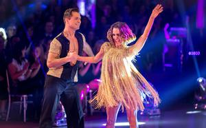 Caroline Flack with dance partner Pasha Kovalev in the 2014 series of Strictly, which the couple won (Guy Levy/BBC/PA)