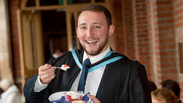 Jack Elliott, from Derry~Londonderry, celebrated graduating with a degree in Aerospace Engineering from the School of Mechanical and Aerospace Engineering at Queen's University Belfast.
