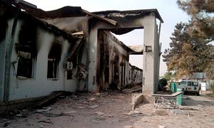 The damaged hospital in which the Medecins Sans Frontieres (MSF) medical charity operated is seen on October 13, 2015 following an air strike in the northern city of Kunduz. Thirty-three people are still missing days after a US air strike on an Afghan hospital, the medical charity has warned, sparking fears the death toll could rise significantly. AFP PHOTOSTR/AFP/Getty Images