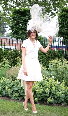 Racegoer Coryn Price from Wales during Ladies' Day of the Royal Ascot meeting at Ascot Racecourse, Berkshire. PRESS ASSOCIATION Photo. Picture date: Thursday June 20, 2013. See PA story RACING Ascot. Photo credit should read: Steve Parsons/PA Wire