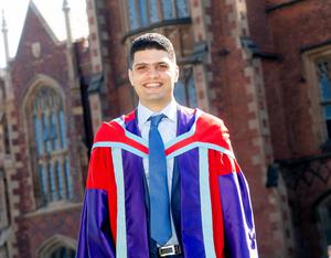 Mohammad Fouad Hussein Bayan from Jordan graduates with a Doctor of Philosophy from the School of Pharmacy at Queen's University.