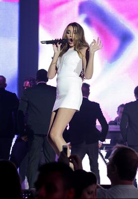 Jingle Bell Ball - London...Nadine Coyle from Girls Aloud on stage at the Jingle Bell Ball presented by Capital FM at the O2 Arena, London. PRESS ASSOCIATION Photo. Picture date: Sunday December 9, 2012. Photo credit should read: Yui Mok/PA Wire...E