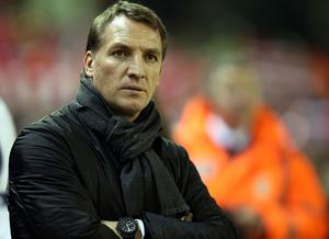 Liverpool manager Brendan Rodgers during the Barclays Premier League match at Anfield, Liverpool.