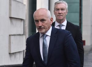 Boxing manager and former world champion, Barry McGuigan arrives at Belfast High Court on Tuesday morning. Credit: Colm Lenaghan/Pacemaker