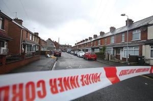 The scene where a man, believed to be a prison officer, has been taken to hospital after a device exploded under a van in east Belfast. It happened around the Woodstock Road at about 07:10 GMT on Friday.