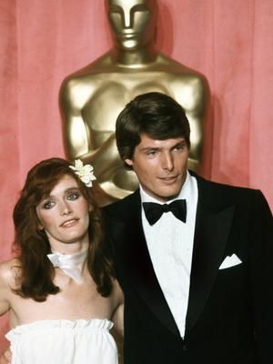 Margot Kidder and Christopher Reeve at the 51st Academy Awards in 1979 (Reed Saxon/AP)