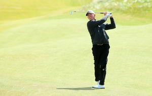 NEWCASTLE, NORTHERN IRELAND - MAY 28:  Soren Hansen of Denmark hits an approach during the First Round of the Dubai Duty Free Irish Open Hosted by the Rory Foundation at Royal County Down Golf Club on May 28, 2015 in Newcastle, Northern Ireland.  (Photo by Andrew Redington/Getty Images)