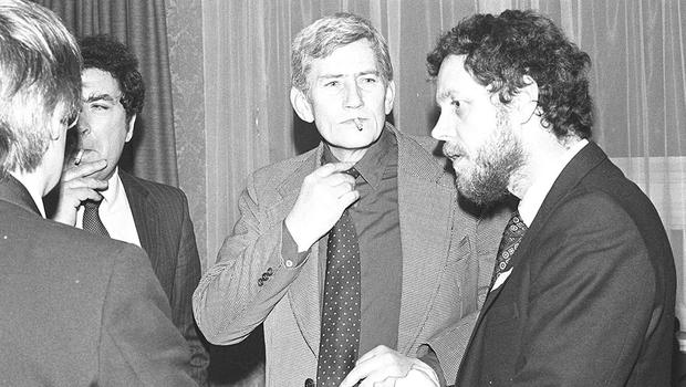 PACEMAKER PRESS INTL. BELFAST. Annual SDLP Conference in Belfast Europa Hotel. John Hume (leader) and Seamus Mallon. 28/29/30 Jan 1983. 82/83/bw