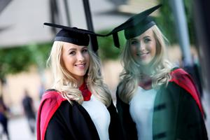 Graduating from Ulster University today with a MEng in Cvil Engineering Amy Black. Picture John Murphy Aurora Photographic Agency.