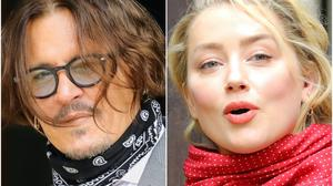 Johnny Depp and Amber Heard outside the High Court (Aaron Chown/PA)