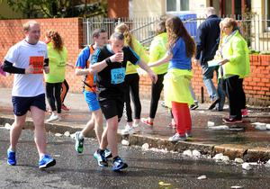 PACEMAKER BELFAST   03/05/2015 Runners on the Antrim Road   during the Belfast Marathon 2015 takes place on Bank Holiday monday. Photo Colm Lenaghan/Pacemaker