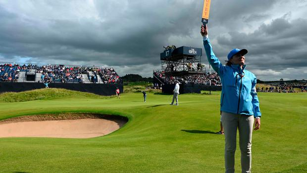 Spain's Sergio Garcia putts at the 17th hole during the third round of the British Open golf Championships at Royal Portrush golf club in Northern Ireland on July 20, 2019. (Photo by Paul ELLIS / AFP) / RESTRICTED TO EDITORIAL USEPAUL ELLIS/AFP/Getty Images