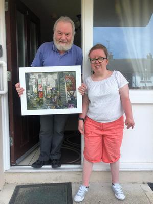 Angela Kirkpatrick with her father Mick