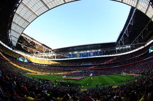 LONDON, ENGLAND - MAY 25:  A general view during the UEFA Champions League final match between Borussia Dortmund and FC Bayern Muenchen at Wembley Stadium on May 25, 2013 in London, United Kingdom.  (Photo by Martin Rose/Getty Images)