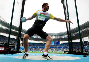 RIO DE JANEIRO, BRAZIL - AUGUST 12:  Christoph Harting of Germany competes in the Men's Discus qualification on Day 7 of the Rio 2016 Olympic Games at the Olympic Stadium on August 12, 2016 in Rio de Janeiro, Brazil.  (Photo by Ian Walton/Getty Images)