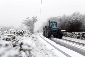 Snow in Fermanagh - 14th January 2016