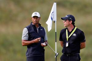 Tiger Woods took to the course early on Wednesday morning alongside putting coach Matt Killen.