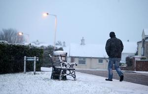 As weather warnings are put in place across Northern Ireland early morning snow falls on Moneyrea in Co. Down. Picture by Jonathan Porter/PressEye