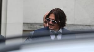 Actor Johnny Depp leaves the High Court in London(Steve Parsons/PA)