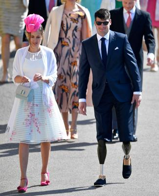 Parasport athlete Dave Henson, arrives at Windsor Castle for the wedding of Prince Harry and Meghan Markle. PRESS ASSOCIATION Photo. Picture date: Saturday May 19, 2018. See PA story ROYAL Wedding. Photo credit should read: Toby Melville/PA Wire