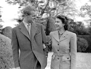 File photo dated 23/11/47 of Princess Elizabeth (now Queen Elizabeth II) and The Duke of Edinburgh during their first public appearance since their wedding, as more than any other person, the Duke of Edinburgh has had a profound effect on the Queen. PRESS ASSOCIATION Photo. Issue date: Sunday April 3, 2016. He has been a constant reassuring presence by her side at official events from the State Opening of Parliament to official trips abroad for more than 60 years. See PA story ROYAL Birthday Influences. Photo credit should read: PA Wire