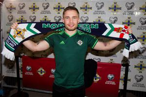 Boxer Carl Frampton before the UEFA European Championship Qualifying match at Windsor Park, Belfast. PRESS ASSOCIATION Photo. Picture date: Thursday October 8, 2015. See PA story SOCCER N Ireland. Photo credit should read: Liam McBurney/PA Wire.