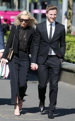 Local model Laura Lacole's legal challenge over her humanist marriage to Republic of Ireland footballer Eunan O'Kane is heard in Belfast High Court. Laura Lacole and Eunan O'Kane arrive at the High Court. Picture by Jonathan Porter/PressEye.com