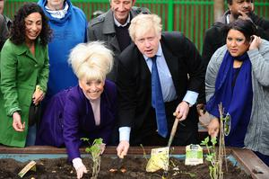 Boris Johnson announced Barbara Windsor as his 'Street Party Champion' for the Big Lunch, when he was mayor of London (Ian West/PA)