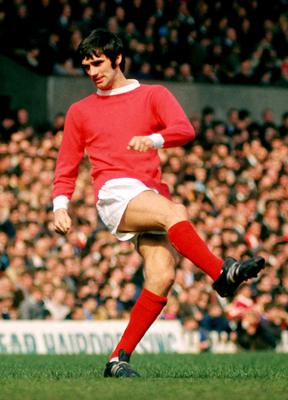Silky skills: George Best in action at Old Trafford