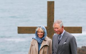 The Prince of Wales and the Duchess of Cornwall during a visit to the Corrymeela Centre in Ballycastle Co Antrim which is Northern Ireland's oldest peace and reconciliation centre.
