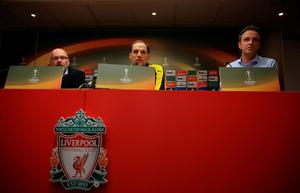 Borussia Dortmund head coach Thomas Tuchel during a press conference at Anfield, Liverpool. PRESS ASSOCIATION Photo. Picture date: Wednesday April 13, 2016. See PA story SOCCER Dortmund. Photo credit should read: Nick Potts/PA Wire