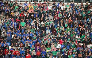 PressEye-Northern Ireland- 2nd June 2017-Picture by Brian Little/PressEye  Northern Ireland.  Fans watching the match against   New Zealand  during Friday night's Vauxhall  International at  the National Football Stadium, Windsor Park ,Belfast. Picture by Brian Little/PressEye