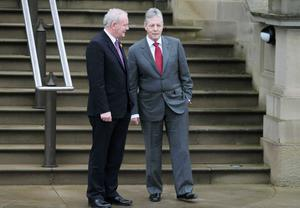 Martin McGuinness and Peter Robinson fly out to the US today